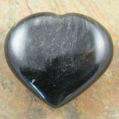 Carved Black Obsidian Heart