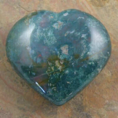 Carved Blood Stone Heart