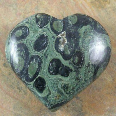 Carved Kambaba Jasper Heart