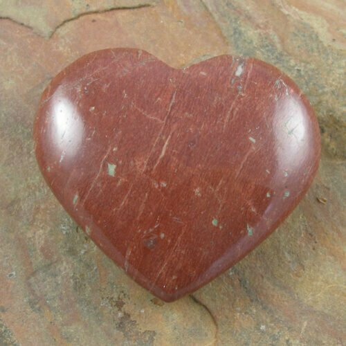 Carved Red Jasper Hearts