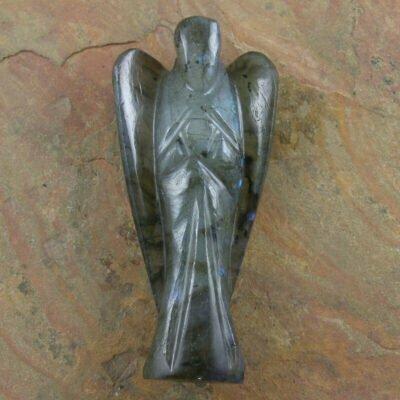 8cm Labradorite Carved Angel