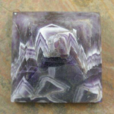 50mm Chevron Amethyst Pyramid