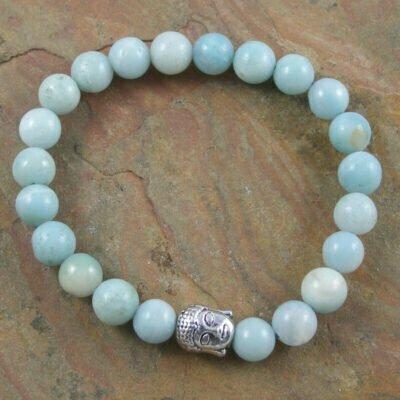Amazonite Buddah Bracelet