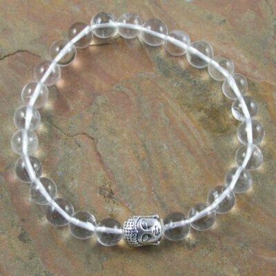 Clear Quartz Buddah Bracelet