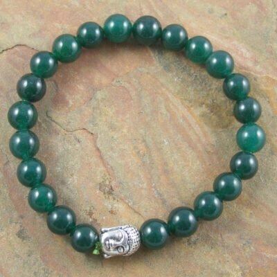 Green Jade Buddah Bracelet