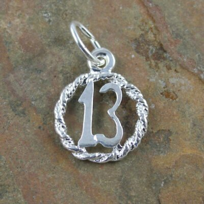 Sterling Silver 13 In Circle Charm