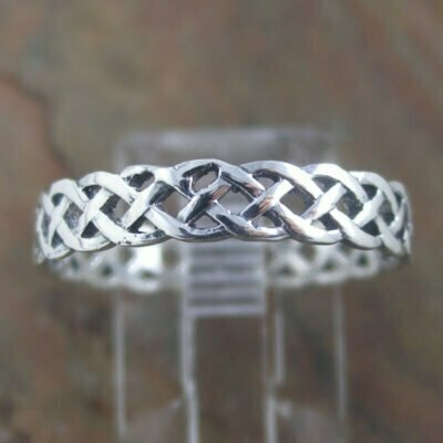 Sterling Silver Ring - Celtic Filigree Band