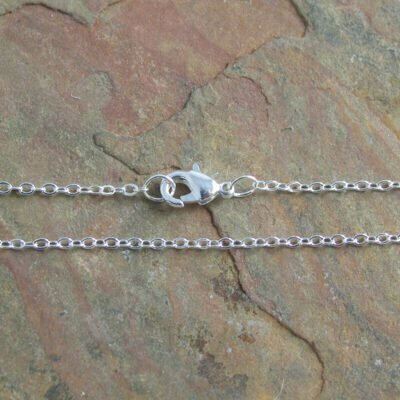 Silver Plated Soldered Link Brass Trace Chain 45cm (235sf)