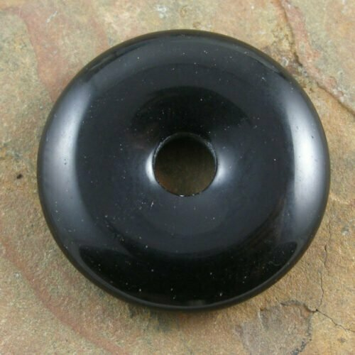 30mm Black Obsidian Stone Donut