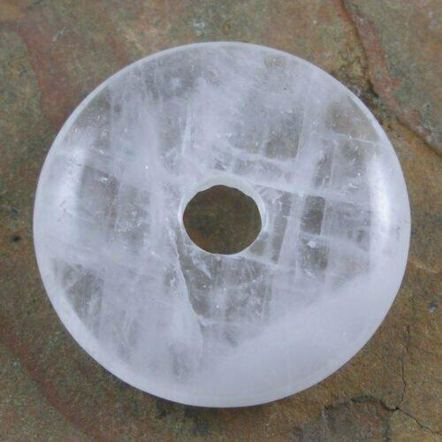 30mm Clear Quartz Stone Donut
