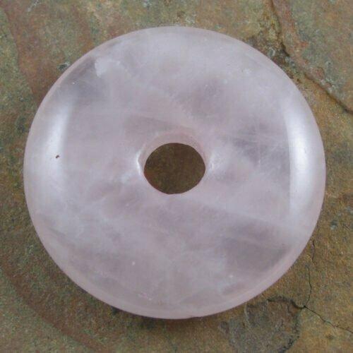 30mm Rose Quartz Stone Donut
