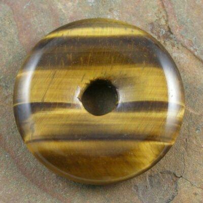 30mm Tiger Eye Stone Donut
