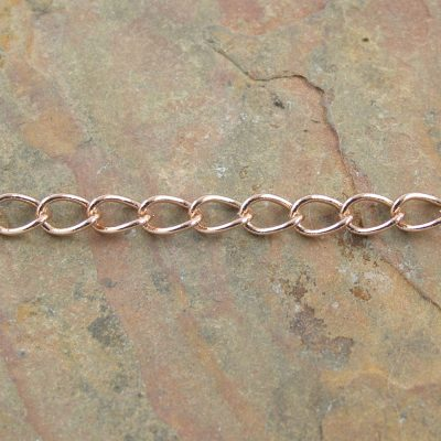 High Quality Oval Curb Chain Rose Gold Plated