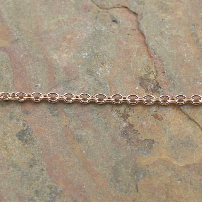 Brass Cable Chain Rose Gold Plated
