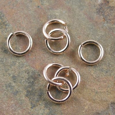 Jumpring - 0.7mm Wire. 4.4mm Outside Diameter Rose Gold Plated