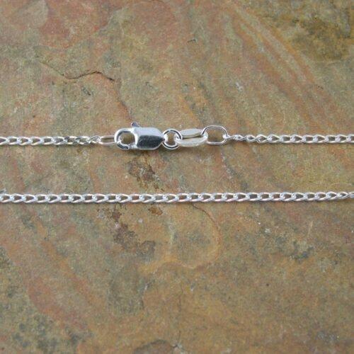 Sterling Silver Long Diamond Cut Curb Chain