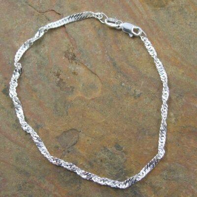 Sterling Silver Singapore Bracelet 19cm