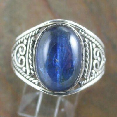 Sterling Silver Oval Kyanite Ring