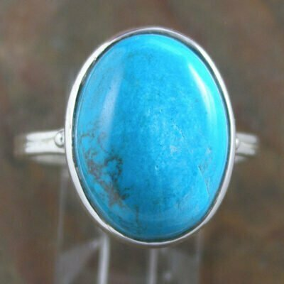 Sterling Silver Oval Chrysocolla Ring