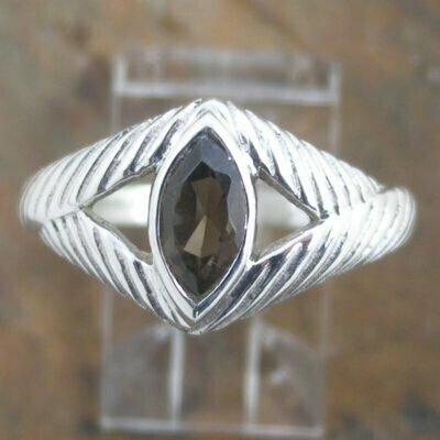 Sterling Silver Smokey Quartz Ring