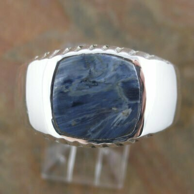 Sterling Silver Pietersite Gents Ring