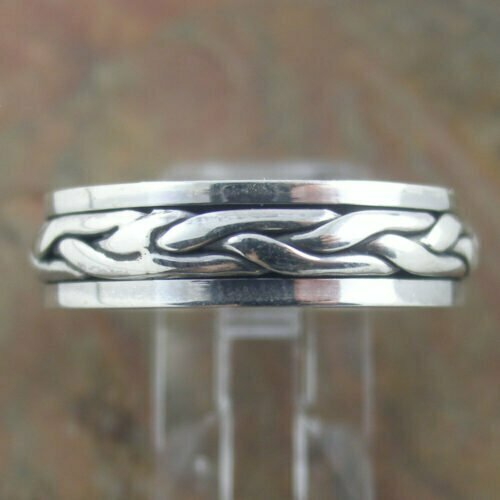 Sterling Silver Spin Ring - Braid