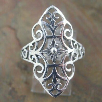 Sterling Silver Ring - Filigree.