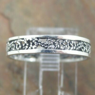 Sterling Silver Ring - Filigree Band