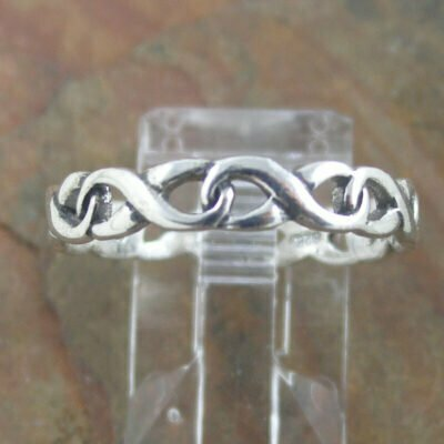 Sterling Silver Ring - Infinity Band