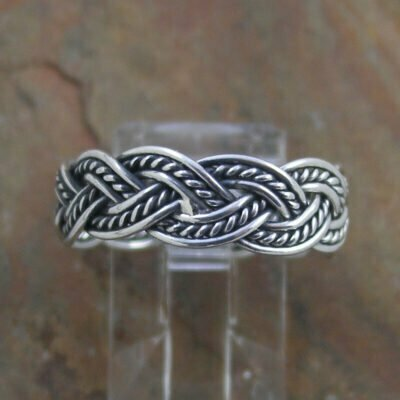 Sterling Silver Braid Band Ring