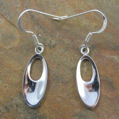 Sterling Silver Polished Drop Earrings