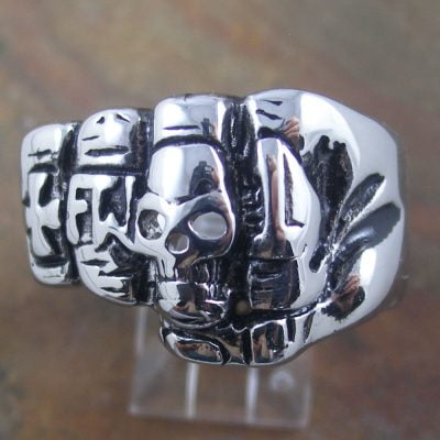 Stainless Steel Fist Ring