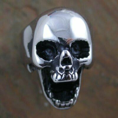 Stainless Steel Skull Bottle Opener Ring