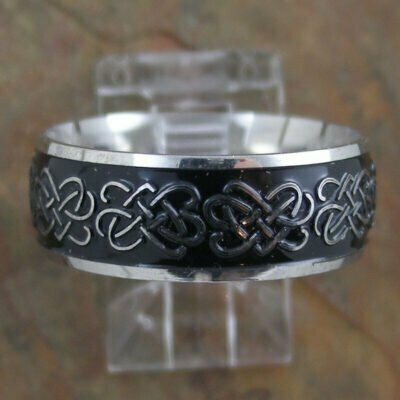 Stainless Steel Celtic Band Ring