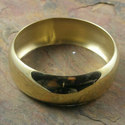 Stainless Steel 23.5mm Bangle 68mm Gold Ip Plated