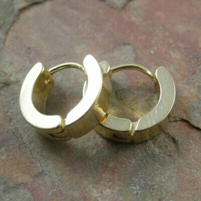 Stainless Steel 14mm Huggies IP Gold Plated