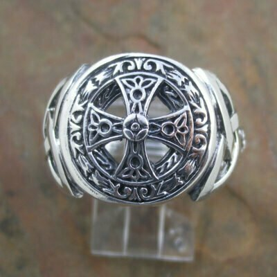 Sterling Silver Gents Cross Ring