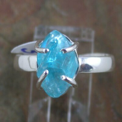 Sterling Silver Raw Apatite Ring