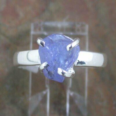 Sterling Silver Raw Iolite Ring