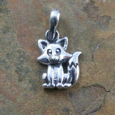 Sterling Silver Fox Pendant
