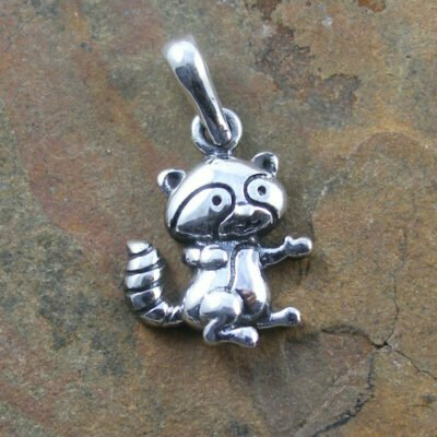 Sterling Silver Racoon Pendant
