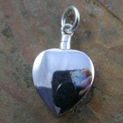 Sterling Silver Heart Ashes Memorial Pendant