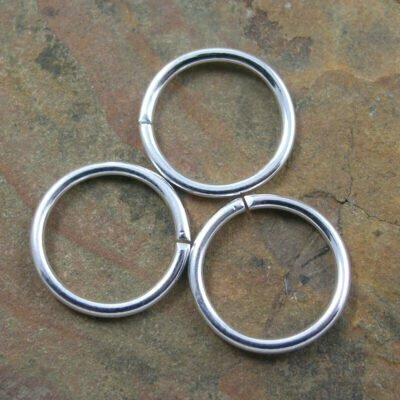 Silver Plated Jumpring 14mm OD