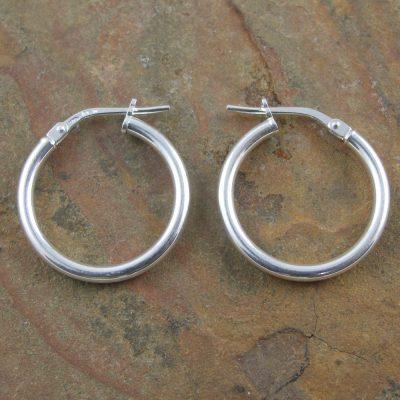 Sterling Silver Hoop Earrings2x18mm