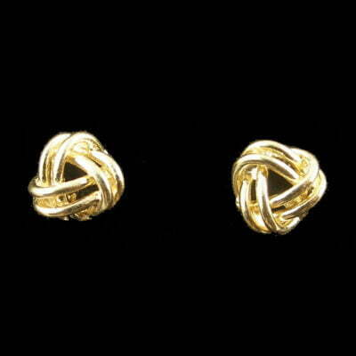 9ct Gold 8mm Knot Earrings